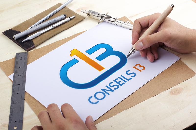 Presentation de Logo Conseils 13 - GESTION DU PERSONNEL PAIE AUDITS ORGANISATIONS ENTREPRISE - Studio Karma - Graphiste