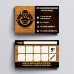 5th Avenue Barber Shop Loyalty Cards Design - Bordeaux