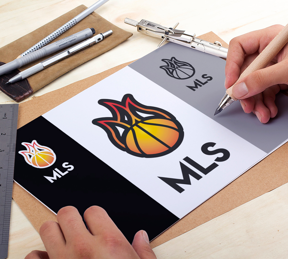 Presentation Creation Logo MLS - Coach Motivation Lifestyle Sport Basketball - Frejus