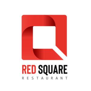 Creation Logo restaurant Red Square - Studio Karma - Graphiste Lille