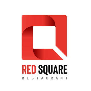 Creation Logo restaurant Red Square - Studio Karma - Graphiste Lille