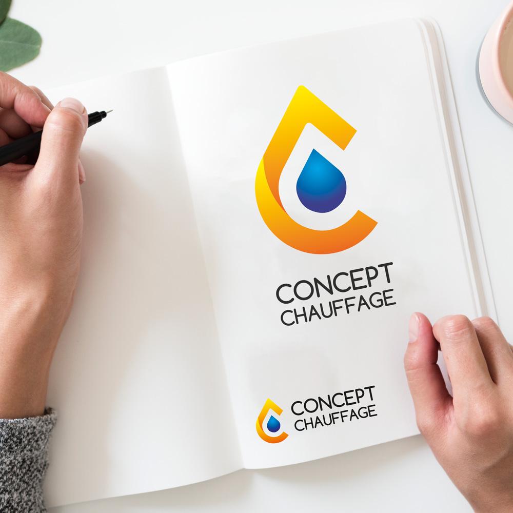 Presentation logo chauffage sanitaire Creation logo Concept Chauffage CHANEINS 01990