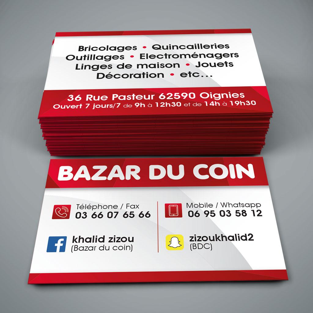 Creation carte visite Bazar du coin - Oignies - 62590 - 3