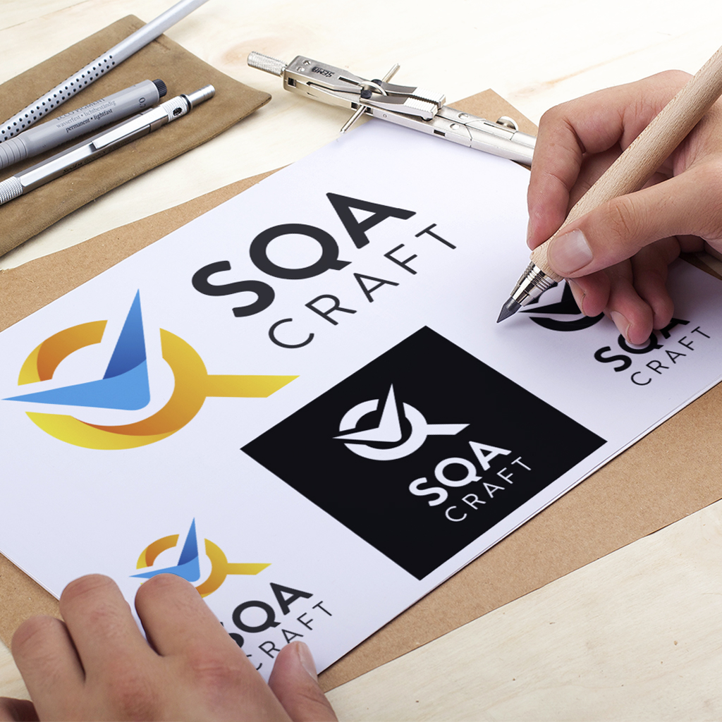 Logo SQA Craft Software Quality Assurance Villefranche 69 Graphiste Karma