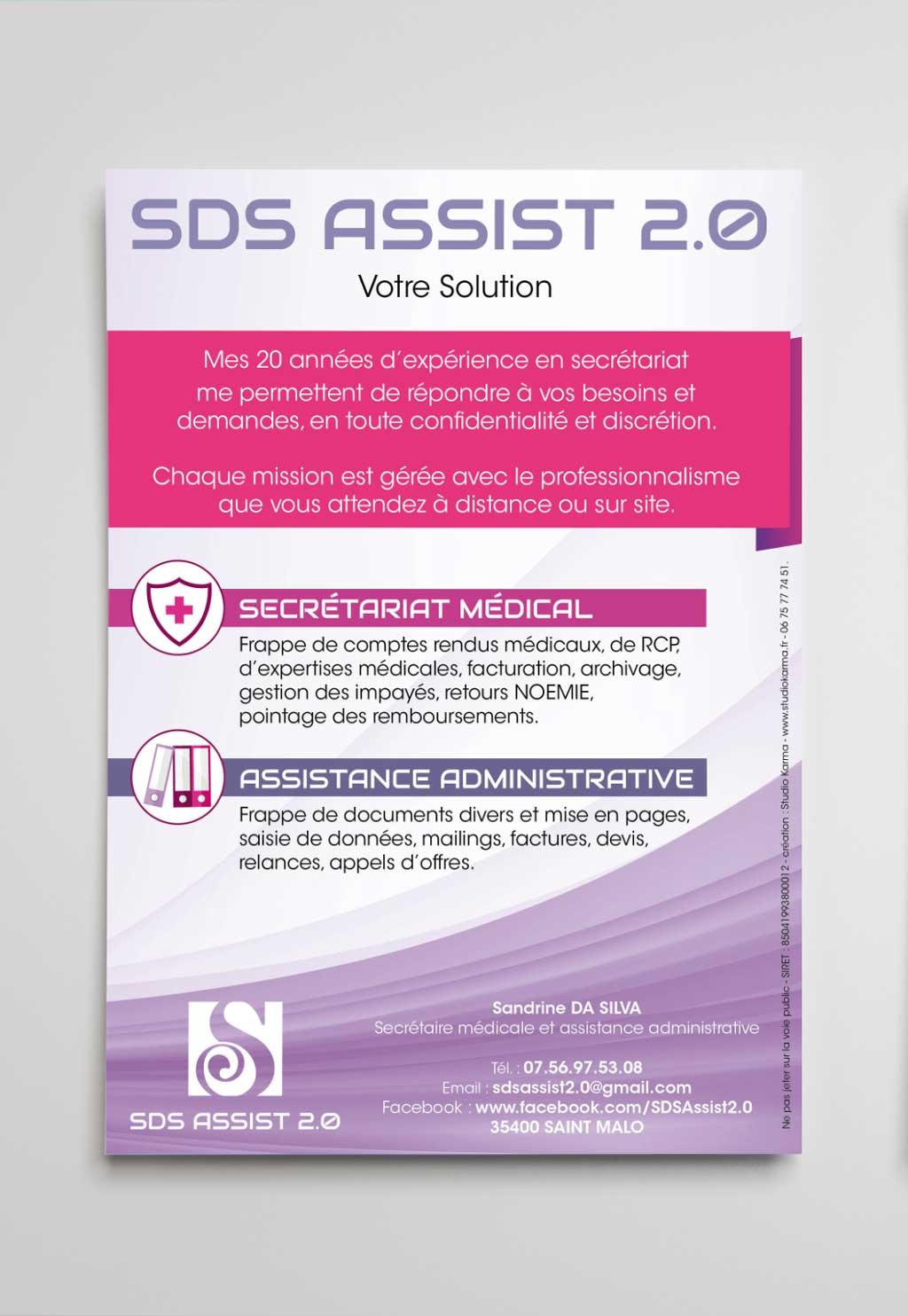 Creation Flyer Secretaire medicale Independante Assistante Administrative SDS Assist 2